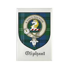 Oliphant Clan Crest Tartan Rectangle Magnet (10 pa