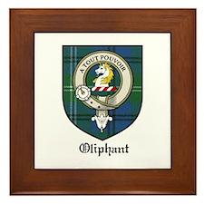 Oliphant Clan Crest Tartan Framed Tile