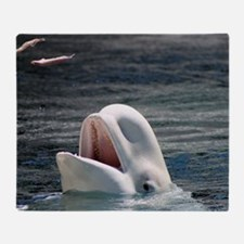 Beluga Whales 5 Throw Blanket