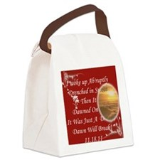 Just A Dream Red Bag Canvas Lunch Bag