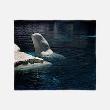Beluga Whales 4 Throw Blanket
