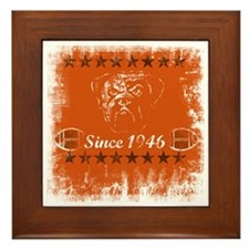 browns 10 x10 shirt Framed Tile