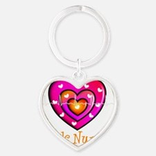 Peds Nurse 3 Heart Keychain
