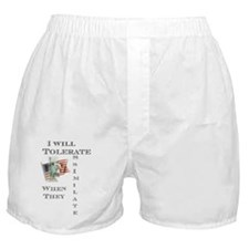 Tolerate / Assimilate Boxer Shorts