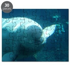 Close up of a Beluga Whale 3 Puzzle