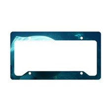 Close up of a Beluga Whale 3 License Plate Holder