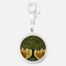 TreeOfLife Silver Round Charm