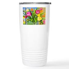 Multicolored Tulips Travel Mug