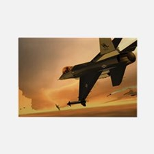 Hill 388th F-16s vs MiG-29s Rectangle Magnet