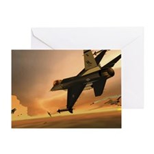 Hill 388th F-16s vs MiG-29s Greeting Card