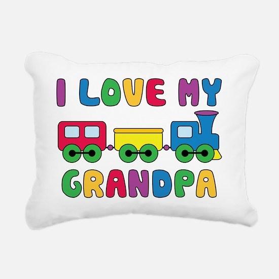 LoveGrandpaTrain Rectangular Canvas Pillow