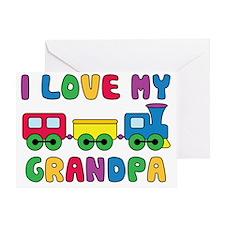 LoveGrandpaTrain Greeting Card