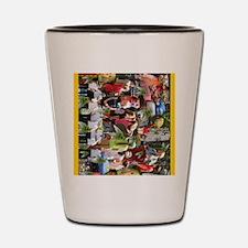 print_collage_wildlife_fest_cicadas_gol Shot Glass