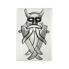 odins mask large png Rectangle Magnet