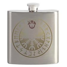 aegishjalmur rune shield PNG Flask