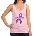 Strength Pancreatic Cancer Racerback Tank Top