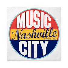 Nashville Vintage Label W Queen Duvet
