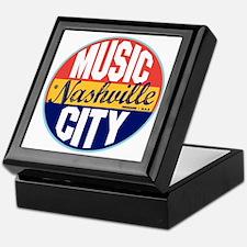 Nashville Vintage Label W Keepsake Box