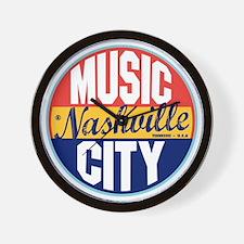 Nashville Vintage Label W Wall Clock
