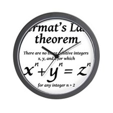 Fermats-last-theorm-blackLetters copy Wall Clock