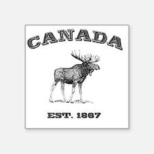 """Canada-Moose-3 copy Square Sticker 3"""" x 3"""""""