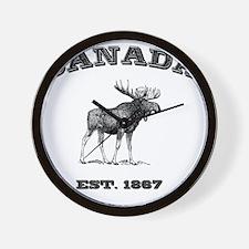 Canada-Moose-3 copy Wall Clock