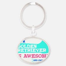 GOld-retr-Thumbs-UP-2 Oval Keychain