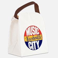 Nashville Vintage Label B Canvas Lunch Bag