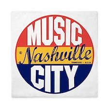 Nashville Vintage Label B Queen Duvet
