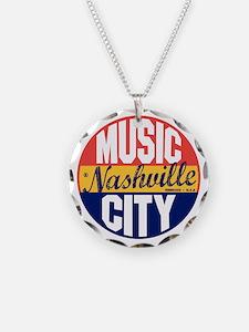 Nashville Vintage Label B Necklace Circle Charm
