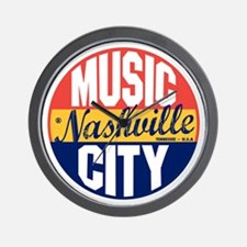 Nashville Vintage Label B Wall Clock