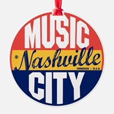 Nashville Vintage Label B Ornament