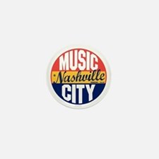 Nashville Vintage Label B Mini Button