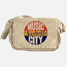 Nashville Vintage Label B Messenger Bag