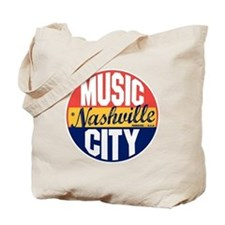 Nashville Vintage Label B Tote Bag