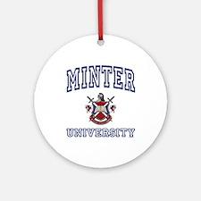 MINTER University Ornament (Round)