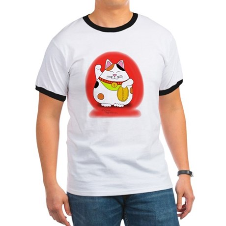 Good Luck Maneki Neko Ringer T