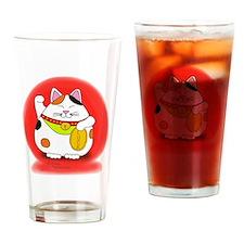 Good Luck Maneki Neko Drinking Glass