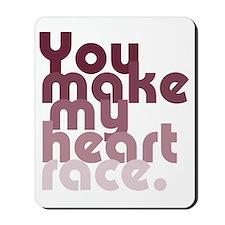 heart race new light Mousepad