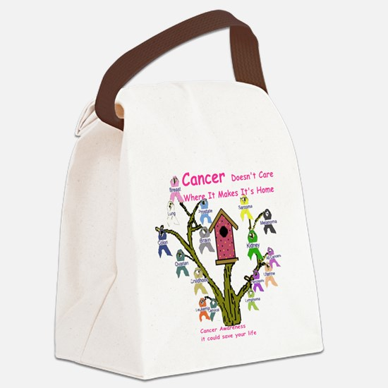 cancertree1.gif Canvas Lunch Bag
