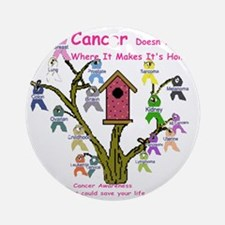 cancertree1.gif Round Ornament