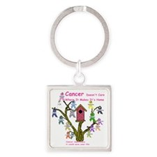cancertree1.gif Square Keychain