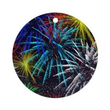 july 4th Round Ornament