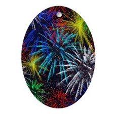 july 4th Oval Ornament