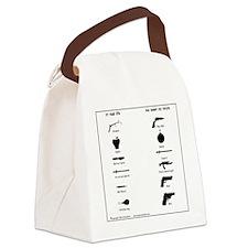 guns3 Canvas Lunch Bag