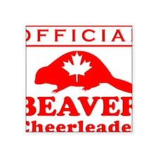 "official beaver cheerleader Square Sticker 3"" x 3"""