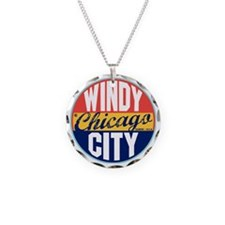 Chicago Vintage Label W Necklace