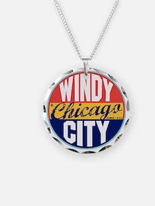 Chicago Vintage Label W Necklace