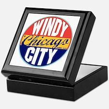 Chicago Vintage Label W Keepsake Box