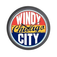 Chicago Vintage Label W Wall Clock
